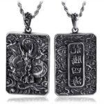 Dragon Necklace Stainless Steel Talisman Door