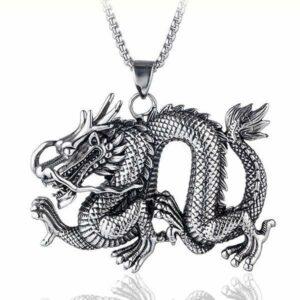 Dragon Necklace Zodiac Steel