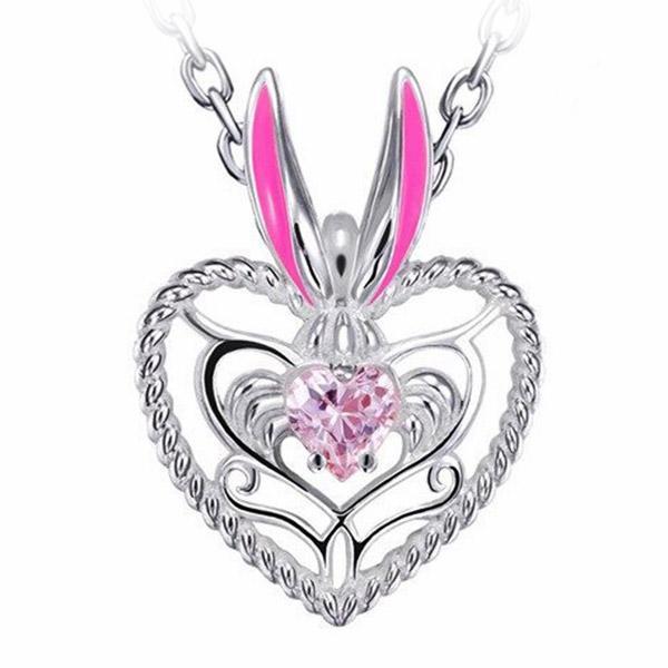 Dragon Neckalace Rabbit Silver Sterling Zircon Stone