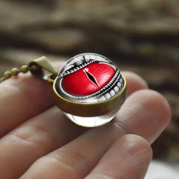 Collier Oeil De Dragon Rouge