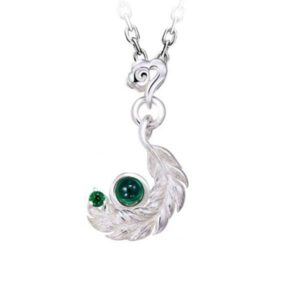 Dragon Necklace Leather Sterling Silver 925
