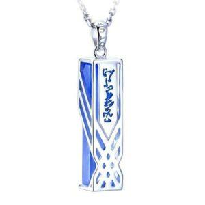 Dragon Necklace Rectangular Shape Silver Sterling