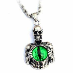 Dragon Necklace Skeleton Eye Steel