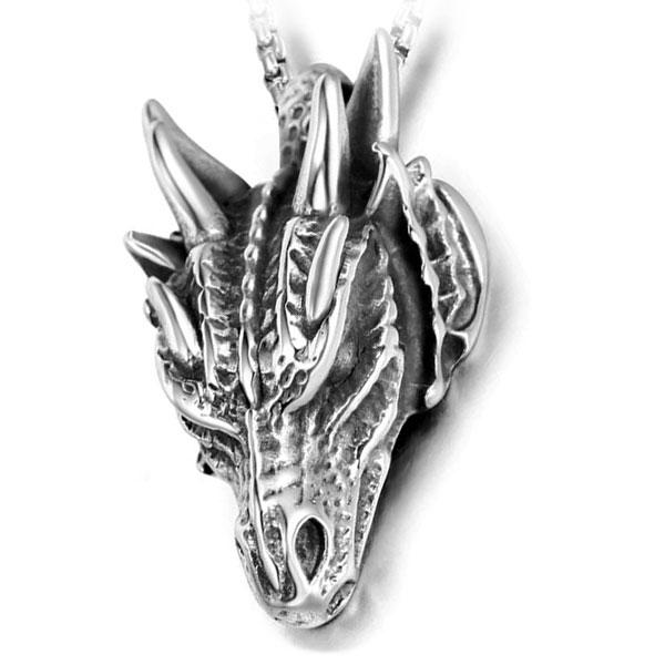 Dragon Necklace Fossil Stainless Steel