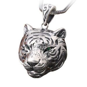 Dragon Necklace White Tiger Sterling Silver