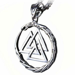 Dragon Necklace Valknut Stainless Steel