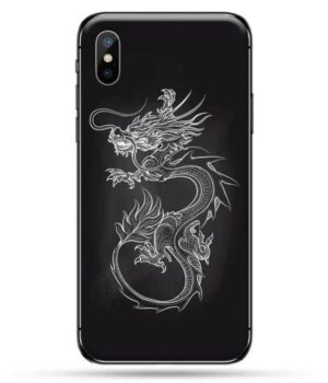 Dragon IPhone Case White Reinforced Silicon