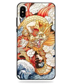 Dragon IPhone Case Cloudy Art