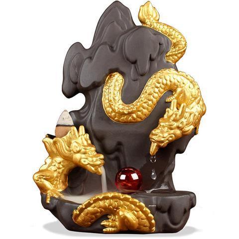 Gold Dragon Backflow Incense Burner