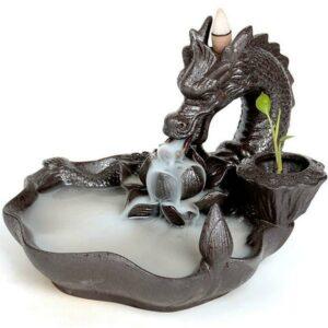 dragon naga incense burner