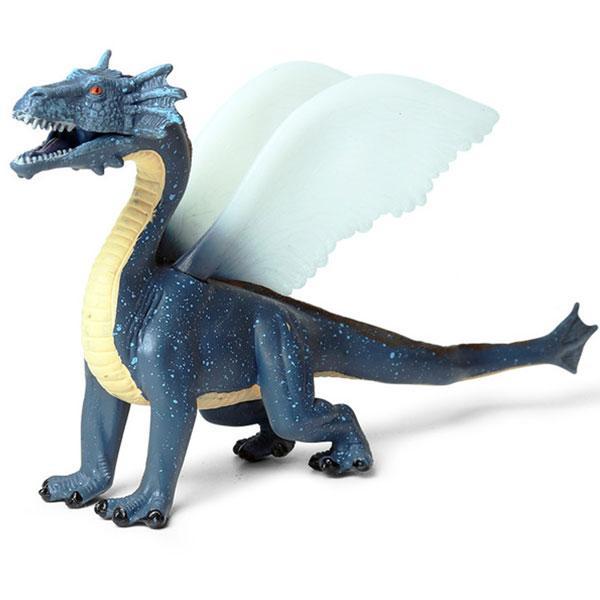 Dragon Figure Blue Statue