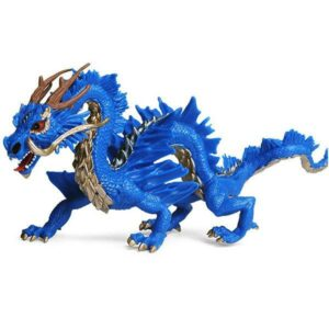 Dragon Figure Blue Chinese Statue