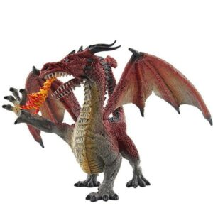 Dragon Figure Fire Statue PVC