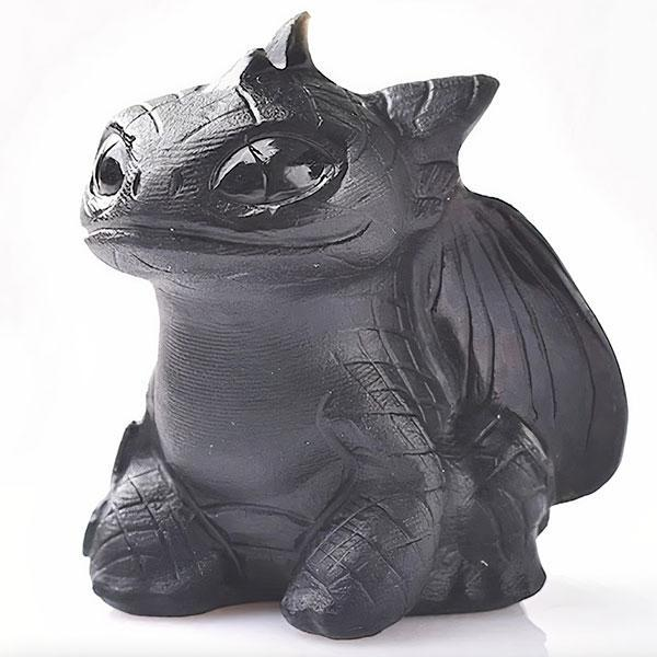 Dragon Figure Toothless Natural Crystal Statue