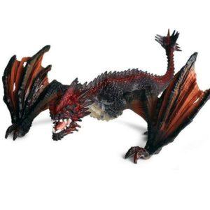 Dragon Figure Black 21cm PVC Statue