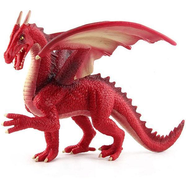 Dragon Figure Red Statue