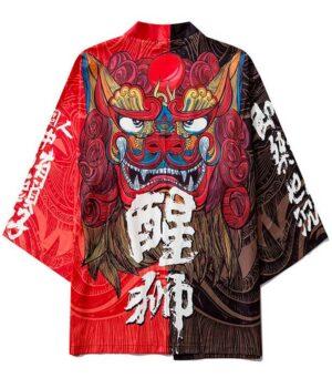 Dragon Kimono Harajuku Polyester Soft