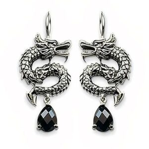 The Dragon Silver Earrings