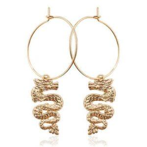 Dangling Dragon Earrings