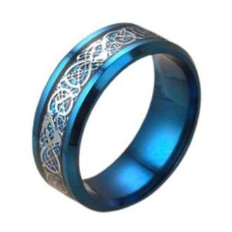 Blue Celtic Dragon Ring