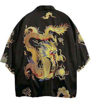 Dragon Kimono Vintage Polyester