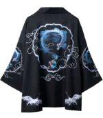 Kimono Haori Blue Dragon Japanese Style