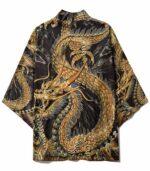 Golden Costume Dragon Kimono Haori