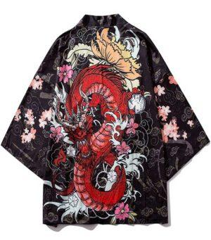 Leviathan Dragon Kimono Japanese Style