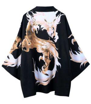 Darkness Legendary Dragon Art Kimono Haori