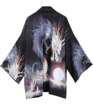 Original Dragon Japanese Drawing Kimono