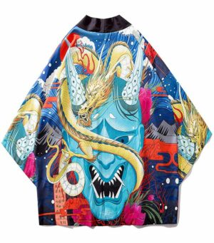 Yokai Demon Dragon Japanese Kimono