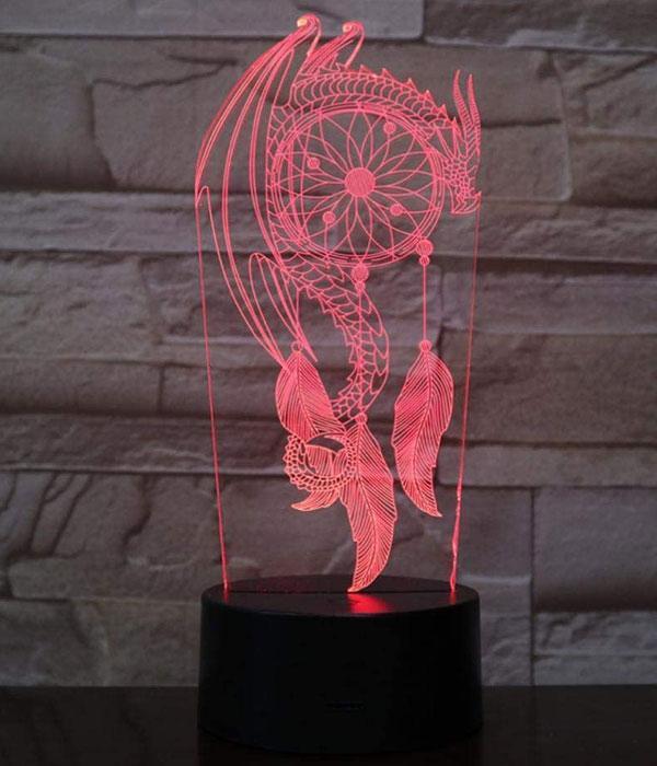 Dragon Lamp Dream Catcher (3D)