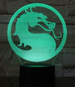 Dragon Lamp Mortal Kombat (3D)
