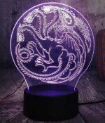 Dragon Lamp Targaryen (3D)