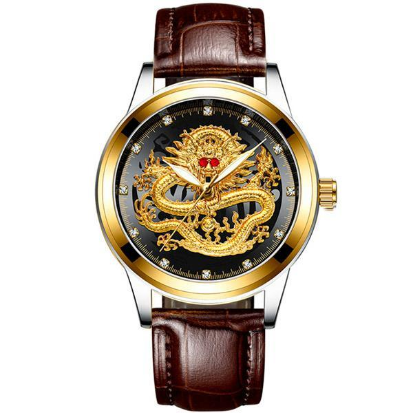 Dragon Watch Immortal Gold and Leather