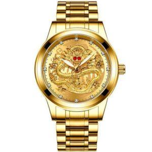 Dragon Mens Watch Golden