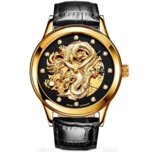 Dragon Watch Gold Divine 40mm Leather