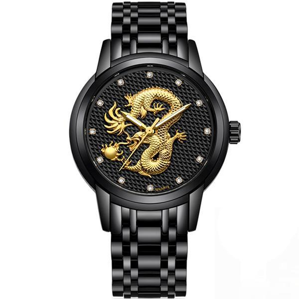 Dragon Watch Japanese Style Golden