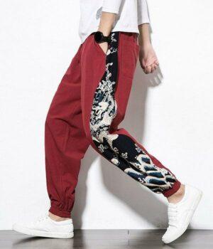Dragon Pants Asian Fashion