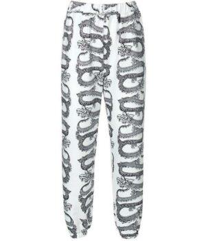 Dragon Pants White Polyester Spandex