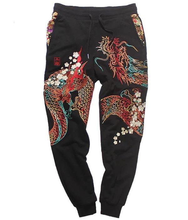 Dragon Pants Embroidered Pure Cotton