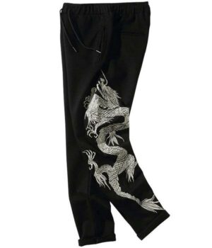 Dragon Pants Chinese Cotton with Spandex