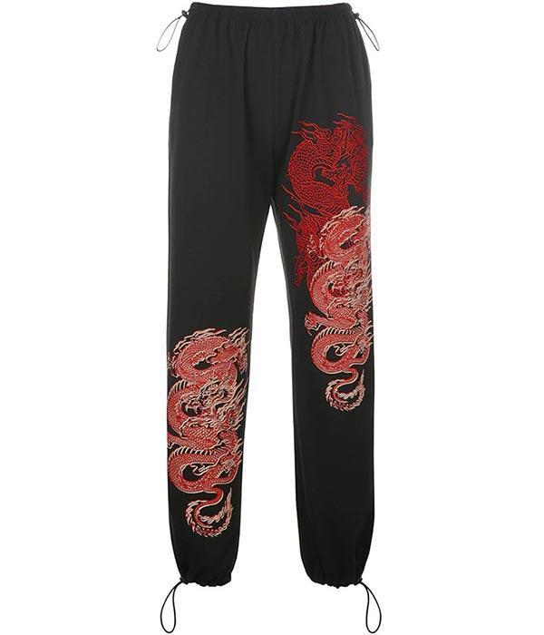 Dragon Pants Red Jogging