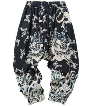 Dragon Pants Harem Pants Cotton