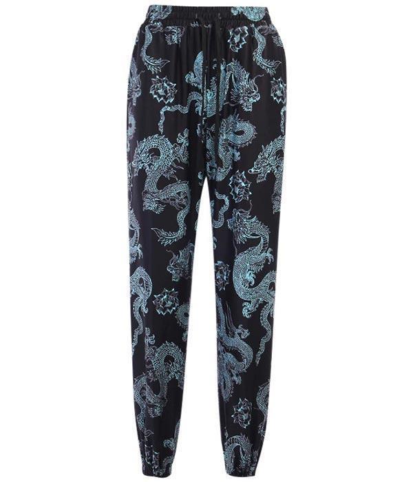 Dragon Pants Dragon Pattern Cotton