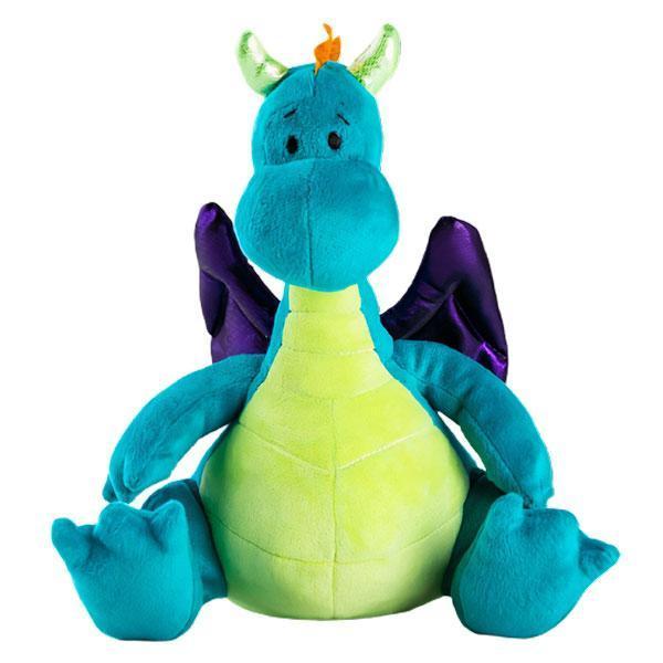 Dragon Plush Two Horns Cute Blue Dragon