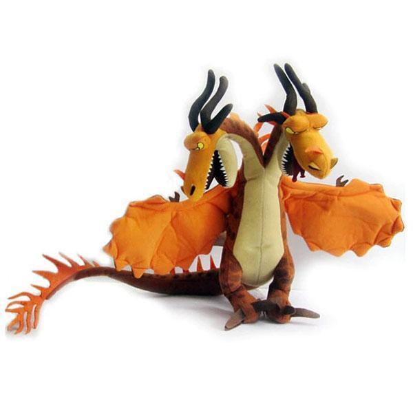 Dragon Plush Two Headed Beast Cotton