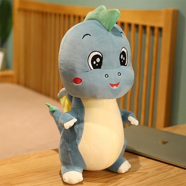 Peluche Dragon Cartoon Bleu