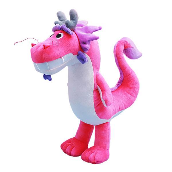 Dragon Plush Toy Pink Cotton 45cm