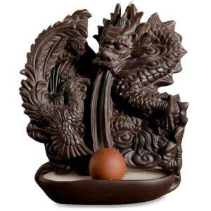 Dragon Incense Burner Asian Ceramic